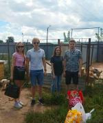 Юля, Александр, Николай, Алина - новые друзья приюта